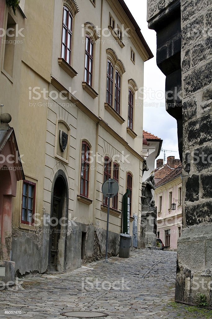 Narrow European Street Cobblestones royalty-free stock photo