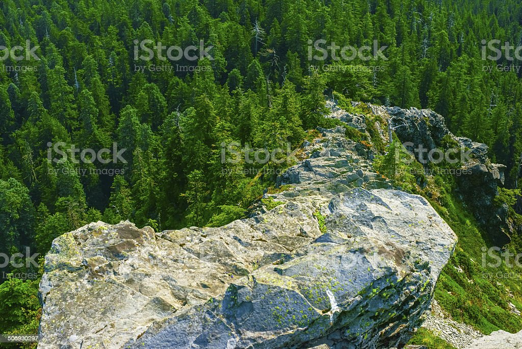 Narrow Ridge With Steep Slopes royalty-free stock photo