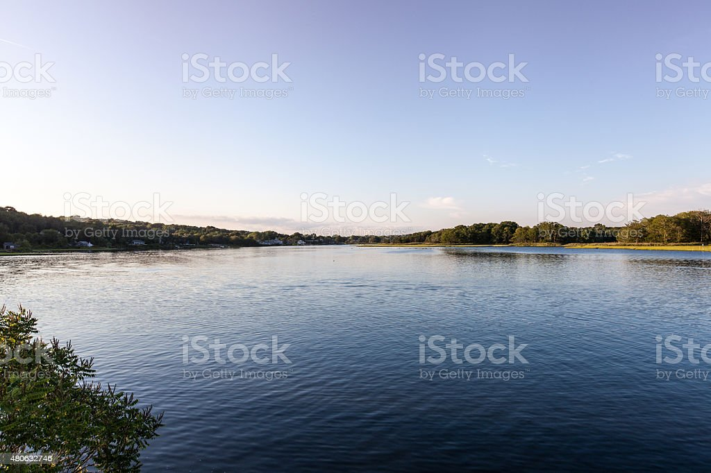 Narrow River in Rhode Island stock photo