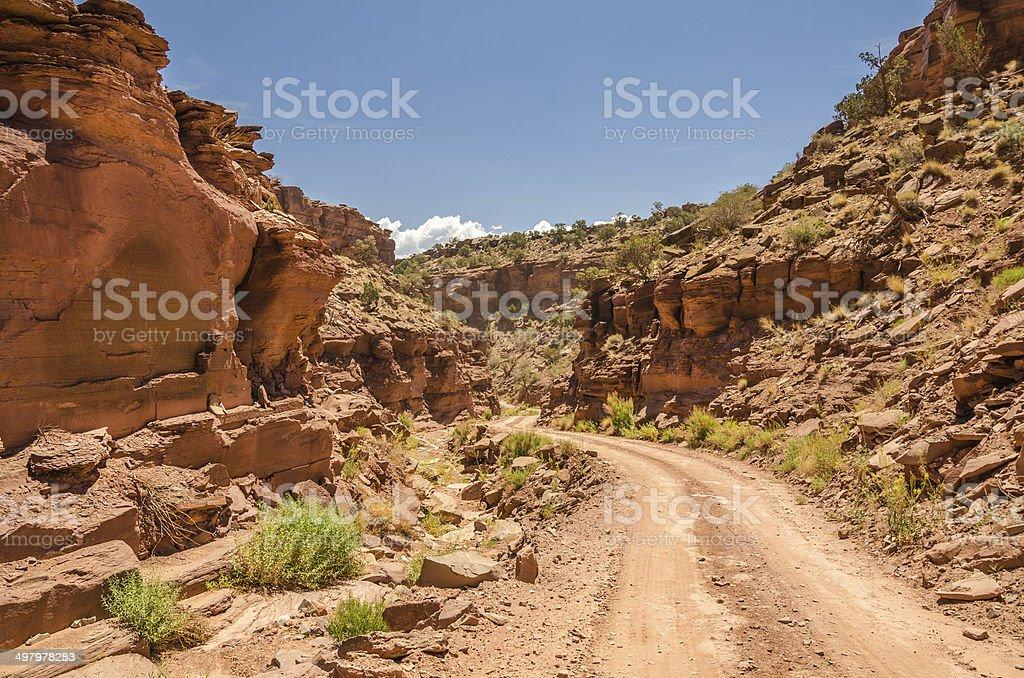 Narrow Rough Road stock photo