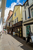 Narrow street. Exeter city center