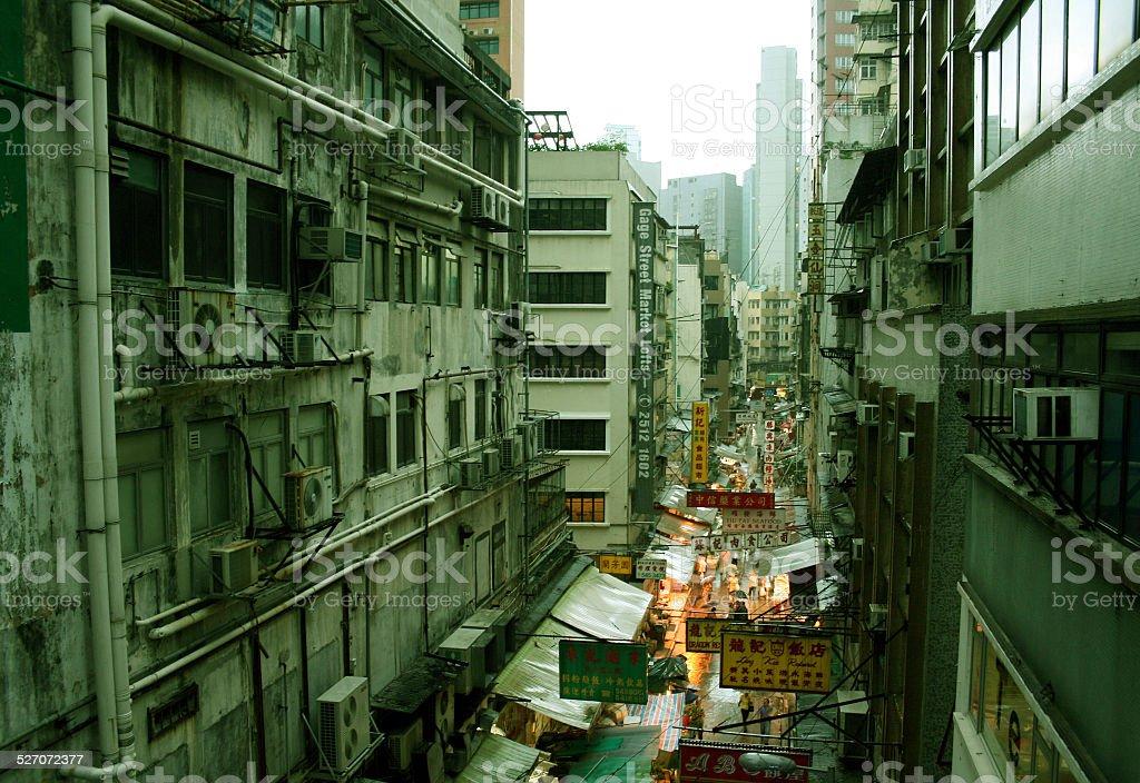 세폭 거리 in Hong Kong, China royalty-free 스톡 사진