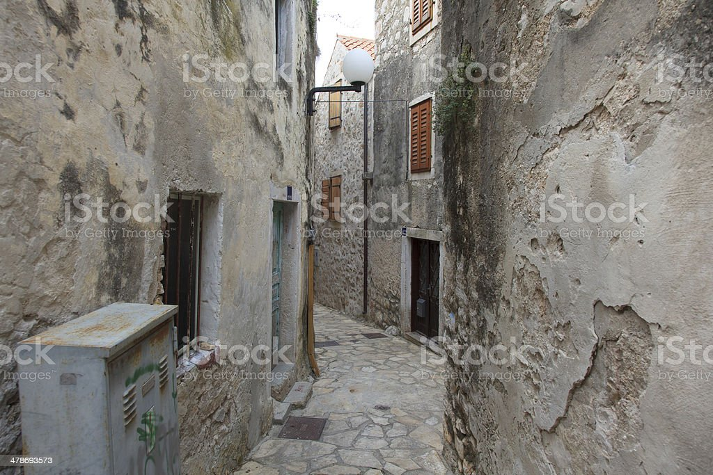 Narrow street in old town. royalty-free stock photo