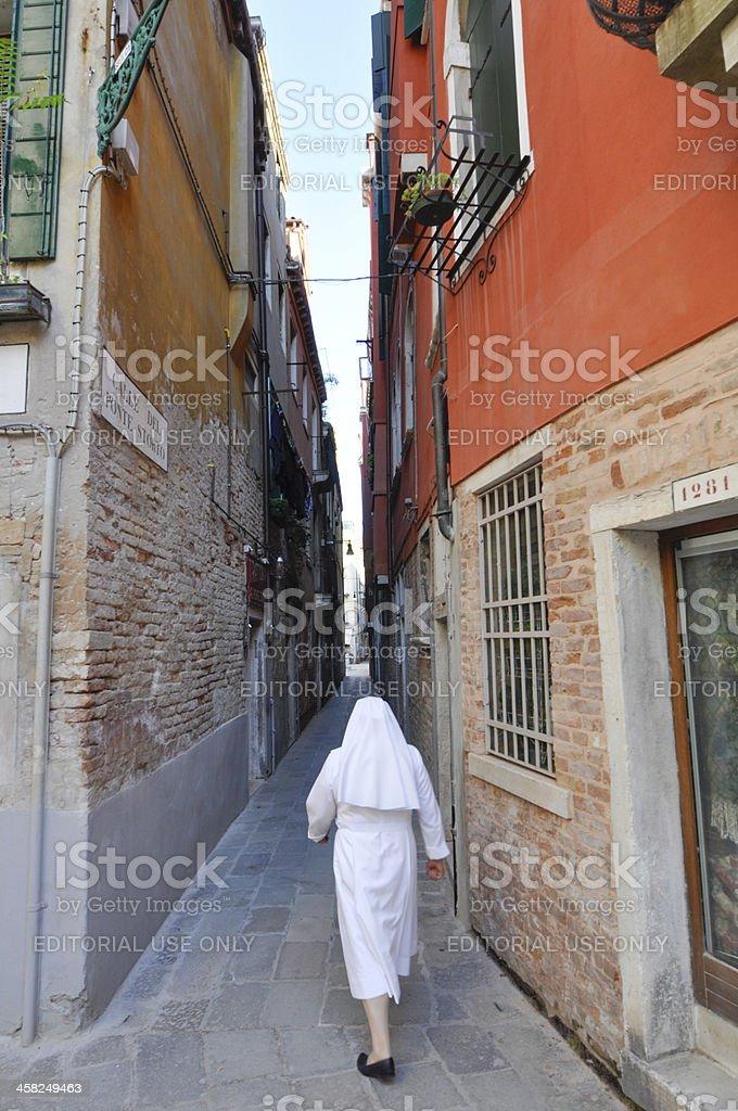 Narrow street in Venice royalty-free stock photo