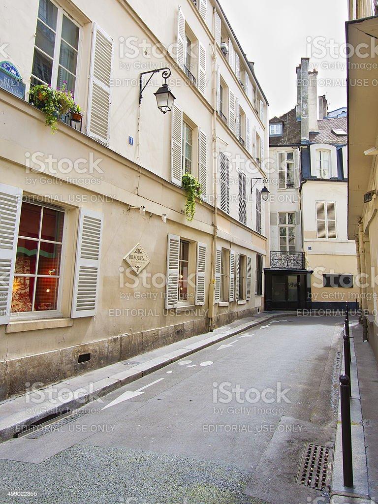 'Narrow street, Paris.' stock photo