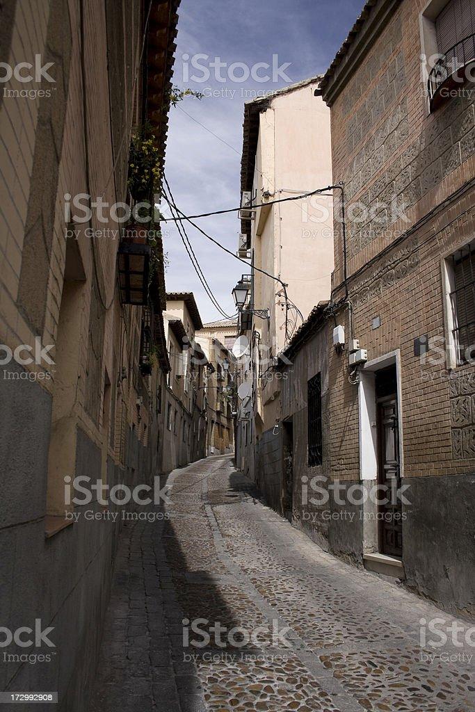 Narrow street stock photo