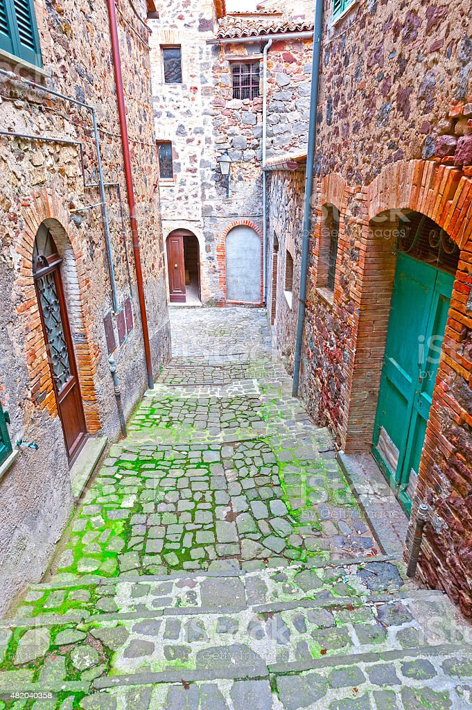 Narrow Street stock photo