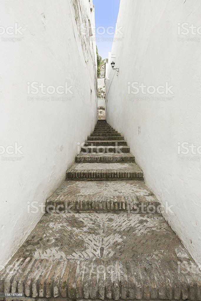 Narrow street , Spain royalty-free stock photo