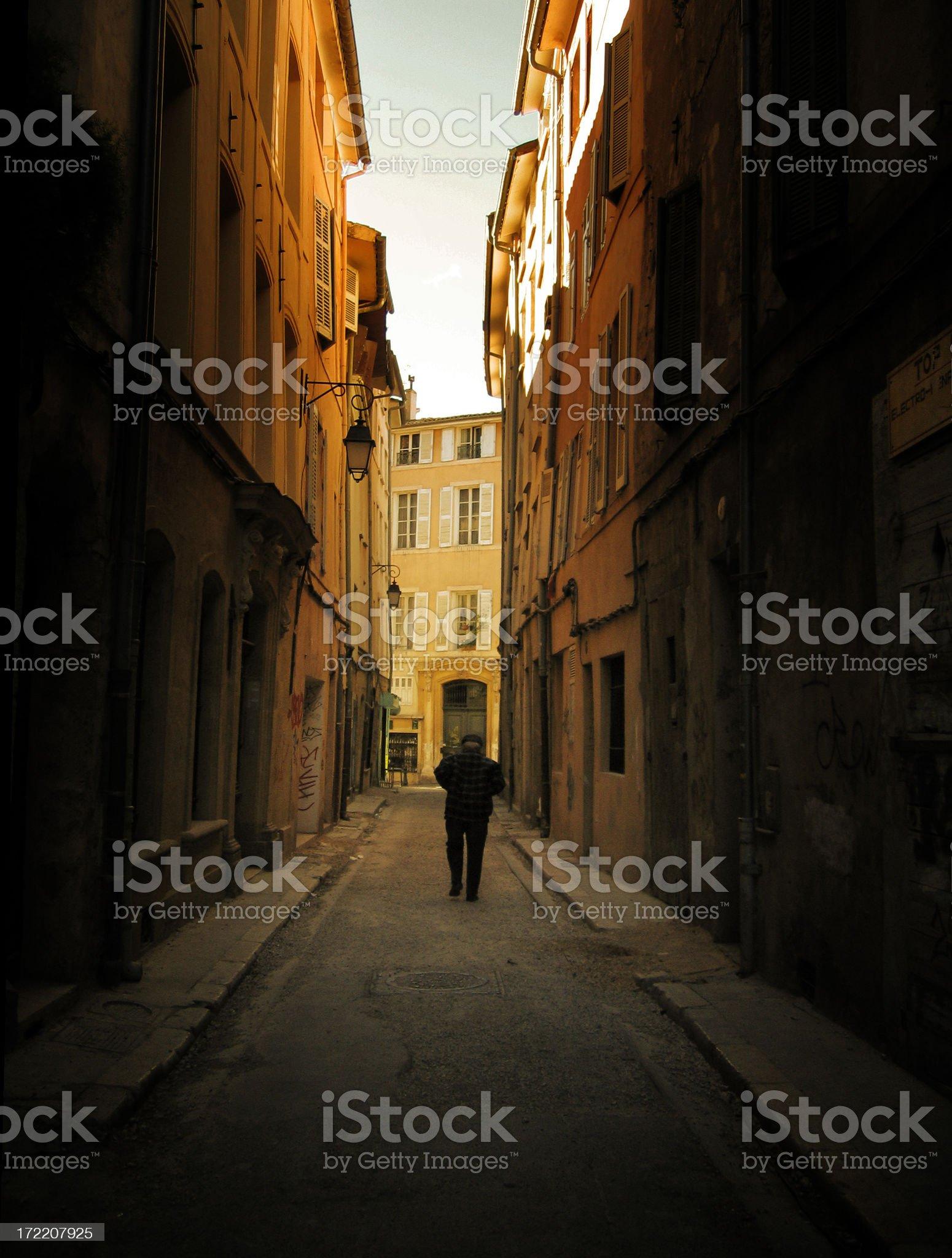 Narrow Streets royalty-free stock photo