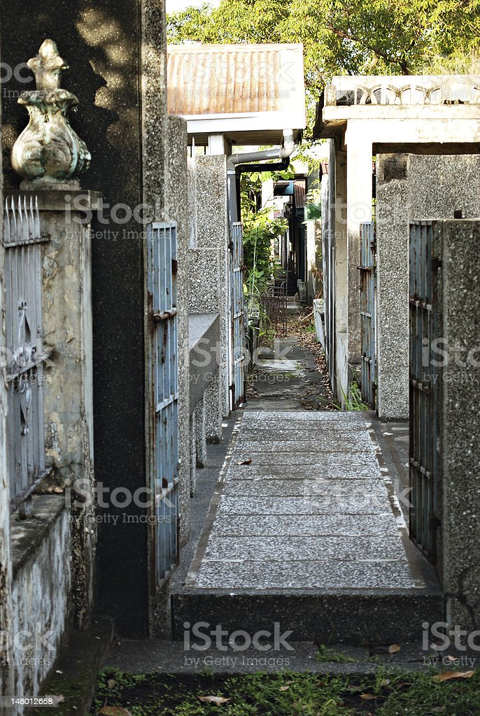 Narrow Urban Alley royalty-free stock photo