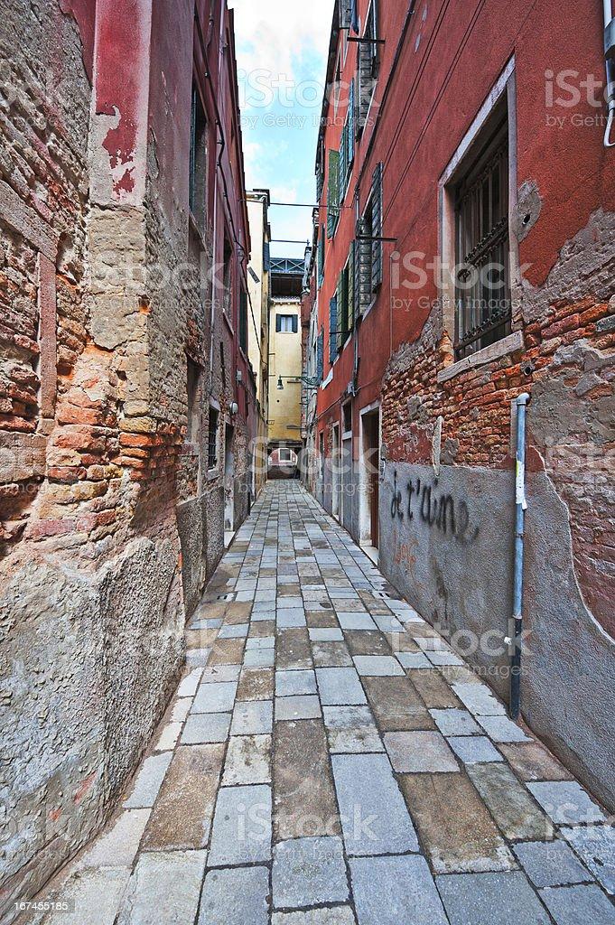 Narrow Venice royalty-free stock photo