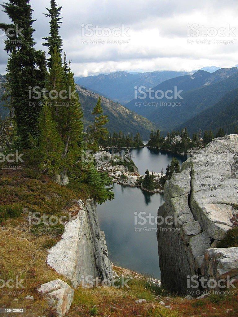 Narrow view stock photo