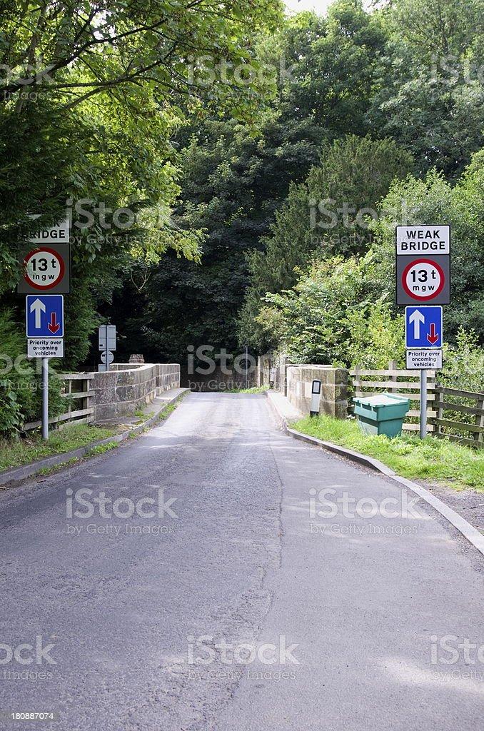 Narrow Weak Bridge royalty-free stock photo