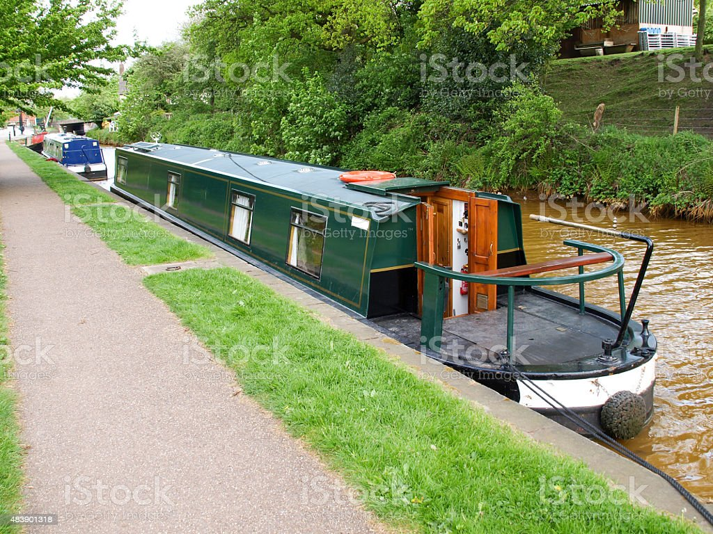Narrowboat royalty-free stock photo