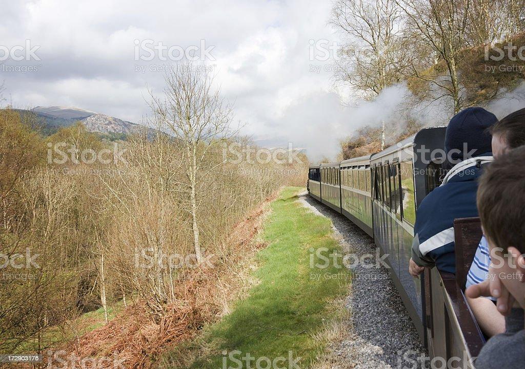 Narrow-Gauge Steam Train royalty-free stock photo