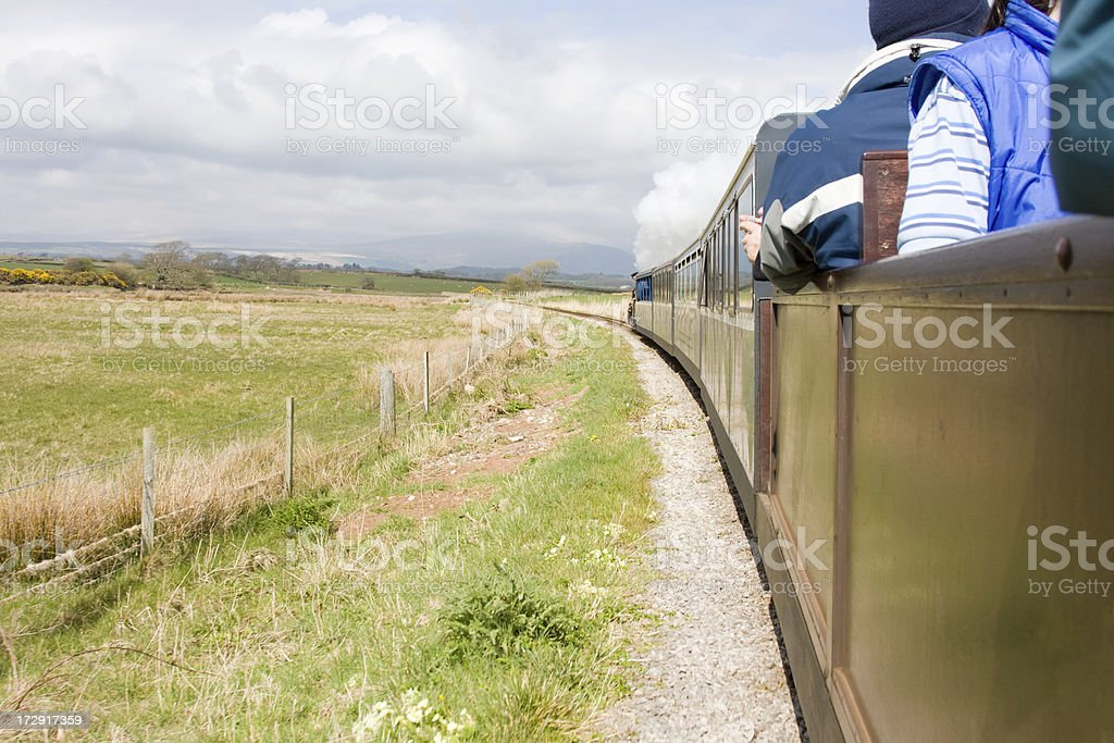 Narrow-Gauge Steam Train royalty-free stock photo