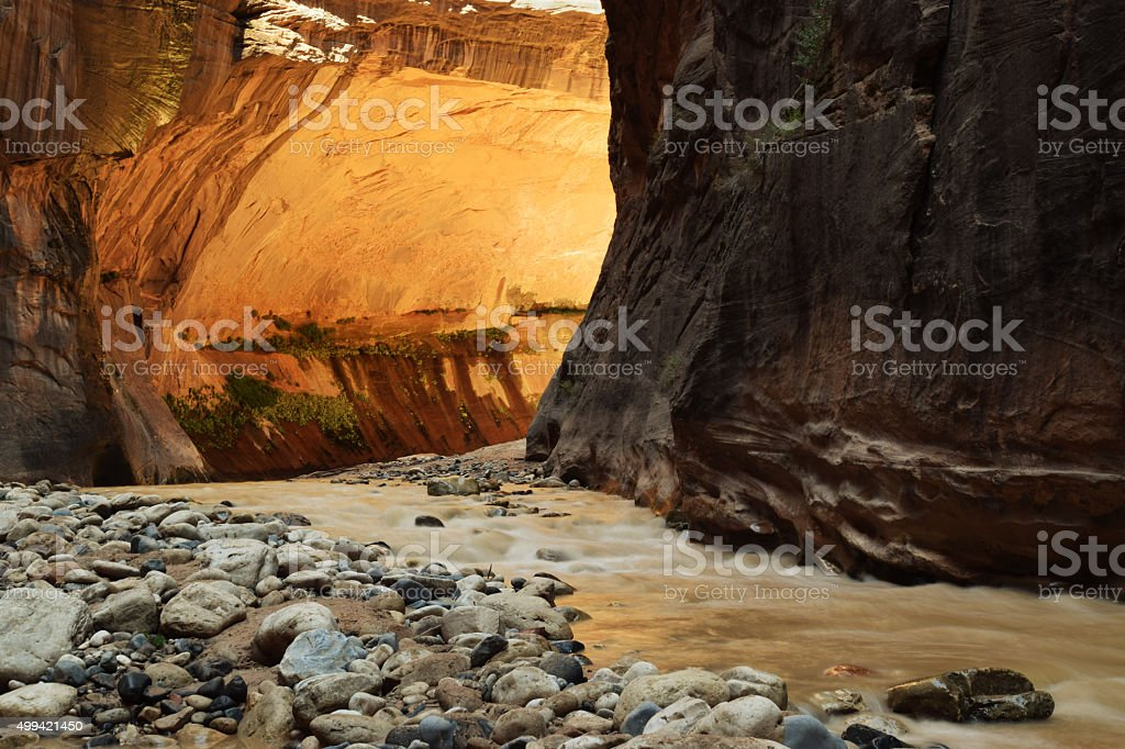 narrows golden wall stock photo