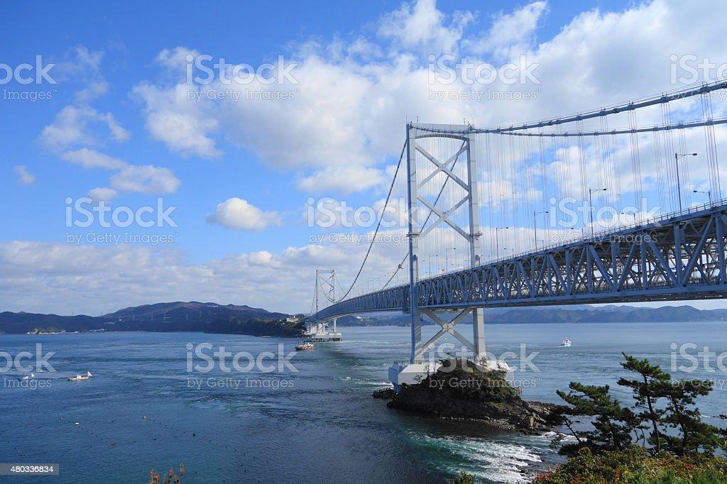 Naruto big bridge stock photo