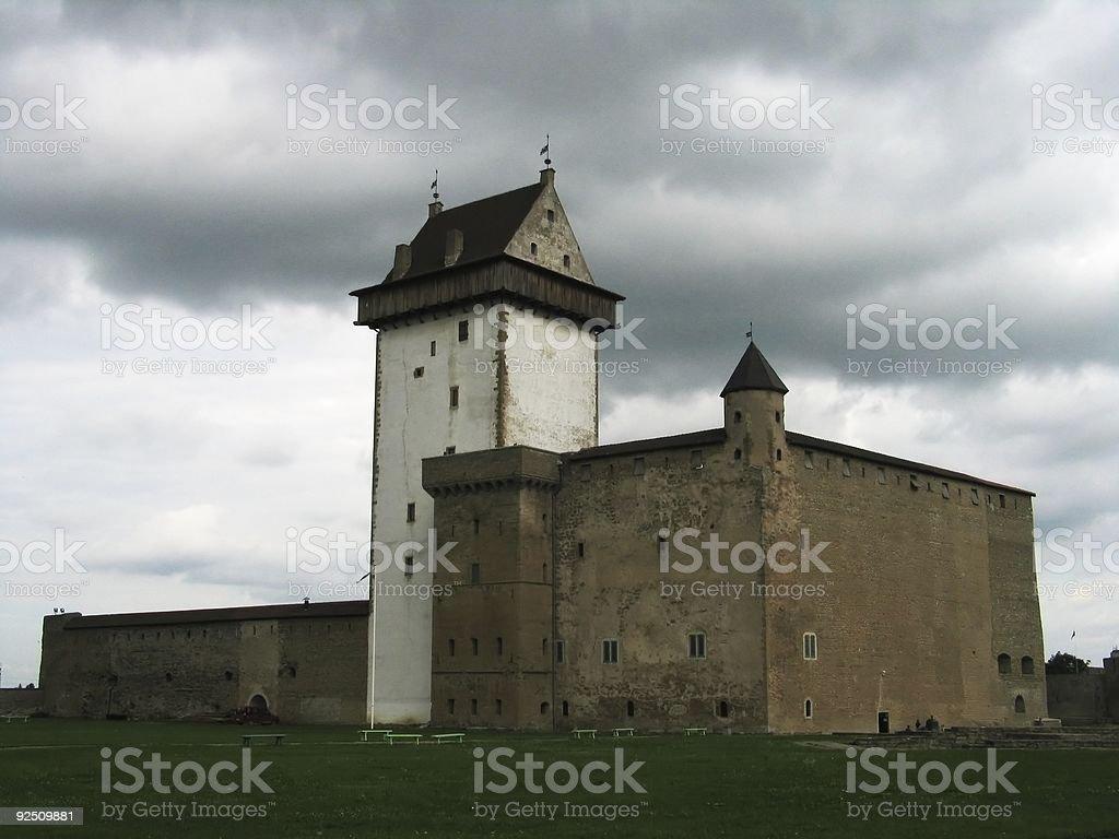 narva castle, estonia royalty-free stock photo