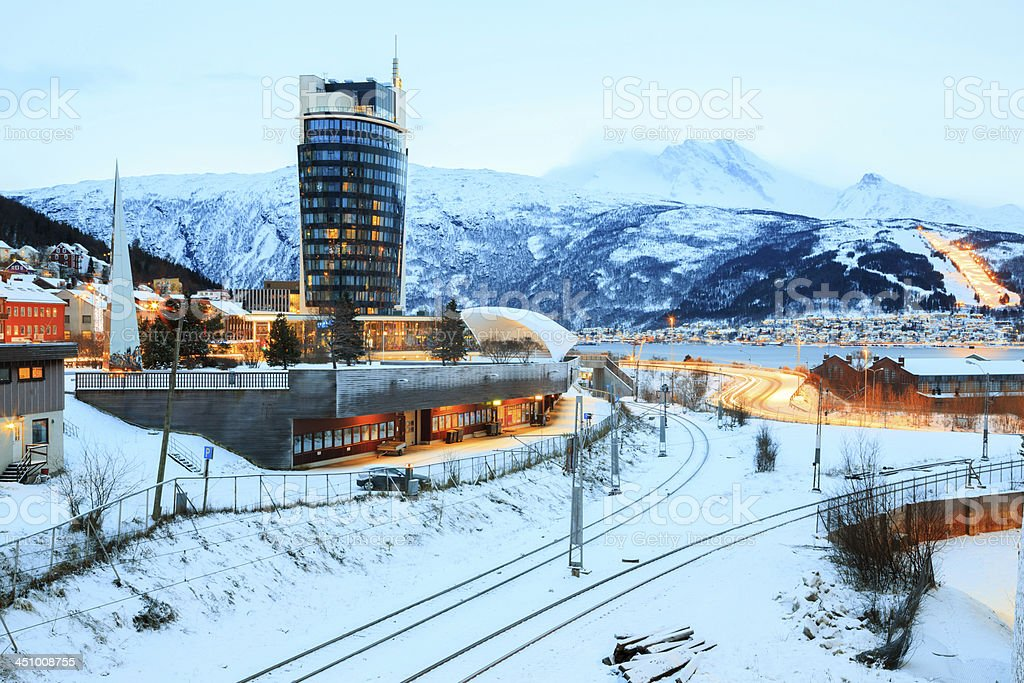 Narvik Town Square stock photo