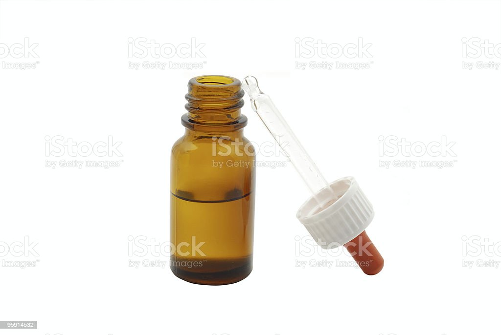nasal spray with pipette stock photo