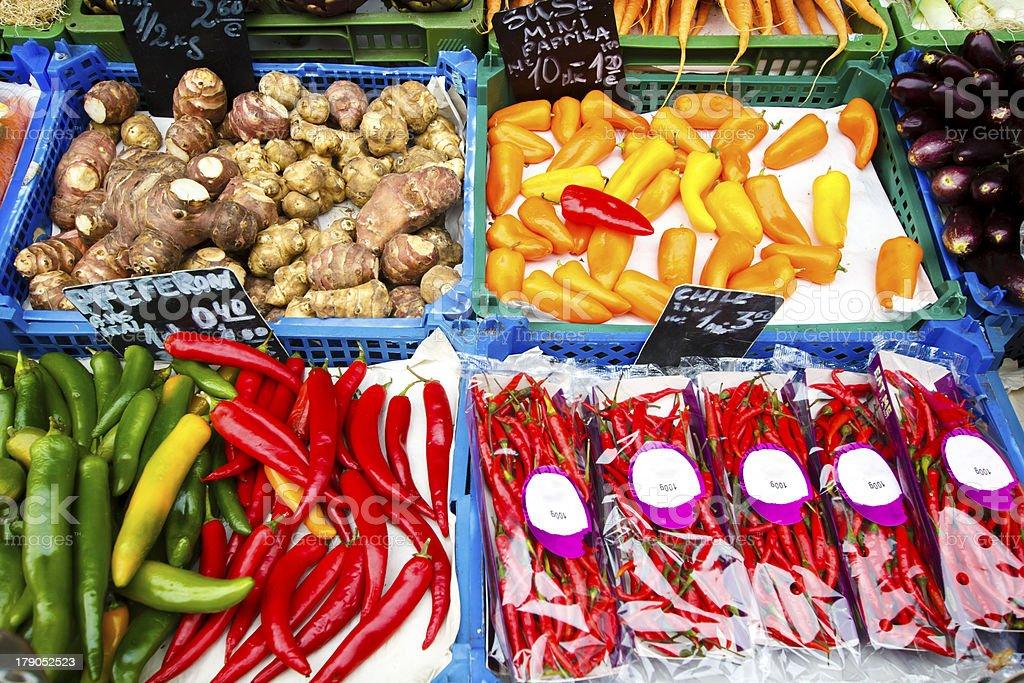 Naschmarkt food market, Vienna royalty-free stock photo