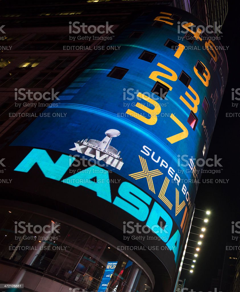 Nasdaq at Times Square New York City royalty-free stock photo