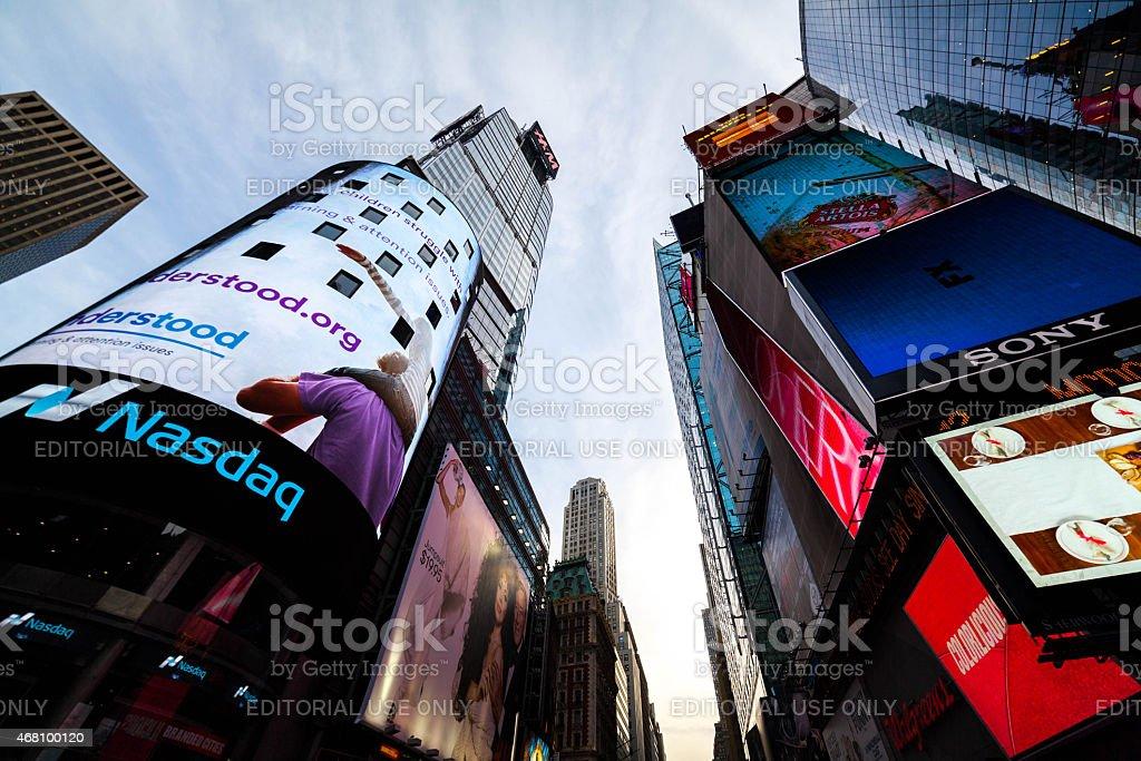Nasdaq Billboard in Times Square stock photo
