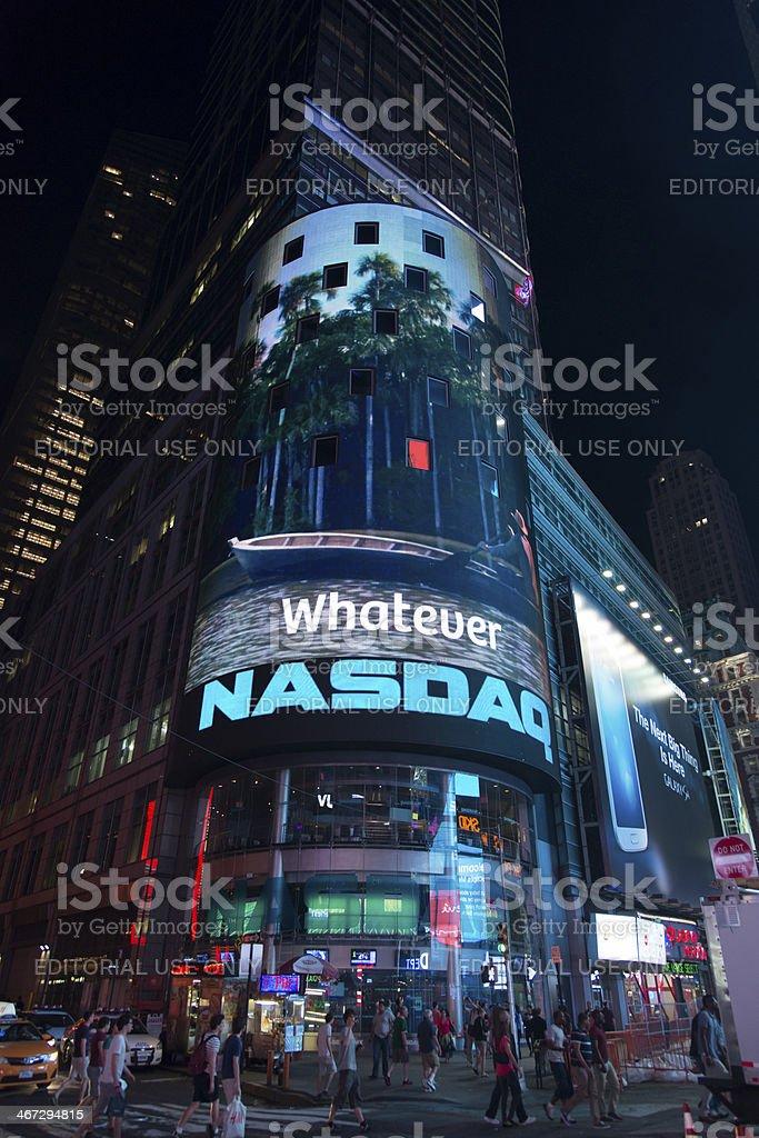 Nasdaq Stock Exchange royalty-free stock photo