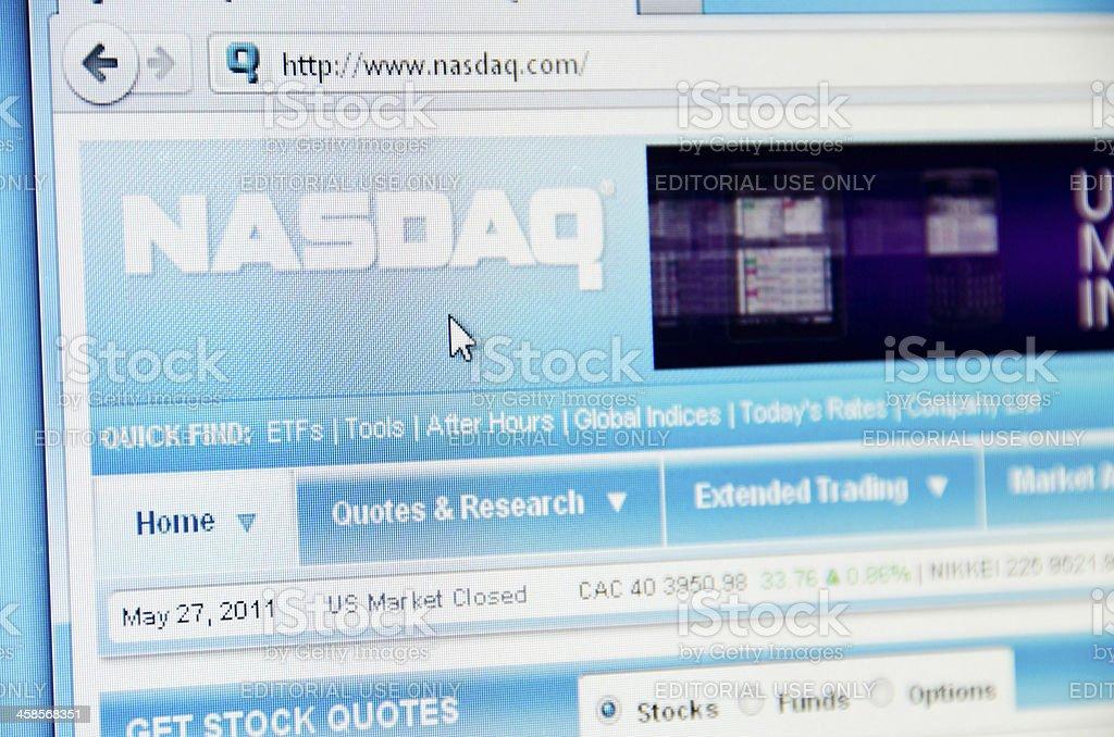 Nasdaq website royalty-free stock photo
