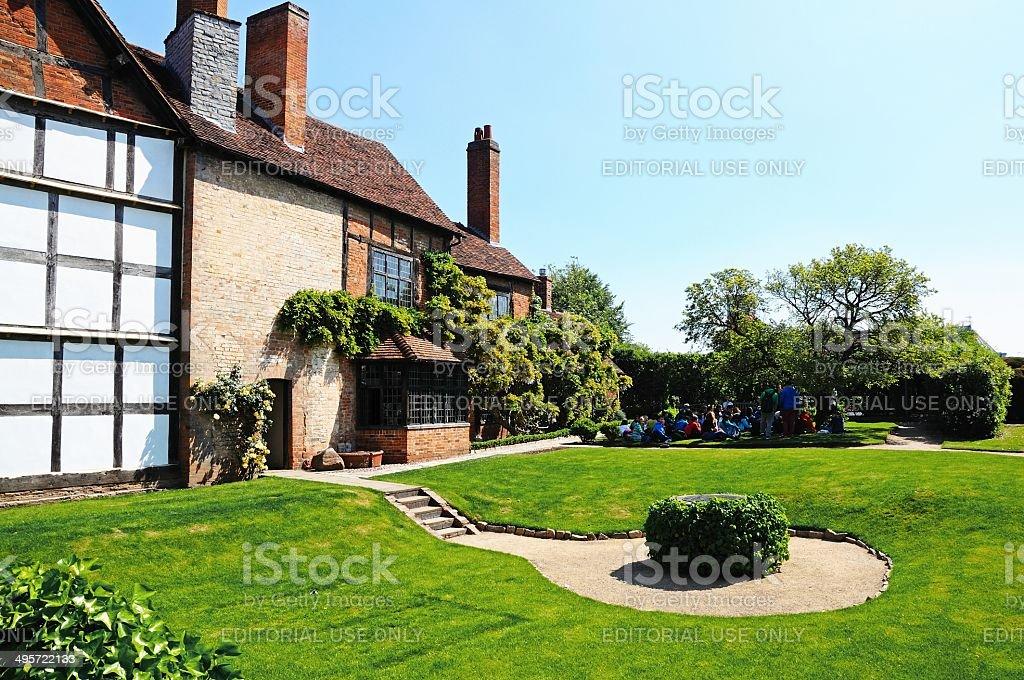 Nash House Gardens, Stratford-upon-Avon. stock photo