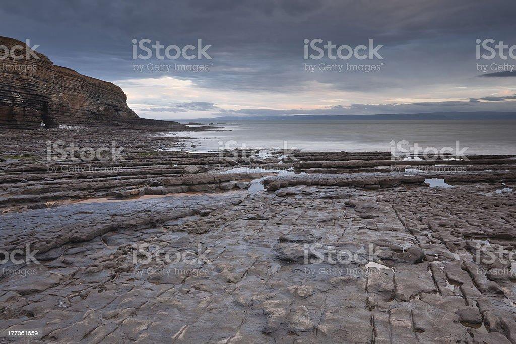 Nash Point, Glamorgan, Wales, UK. stock photo