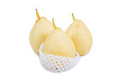 Nashi pear,Chinese pear in packing protective net