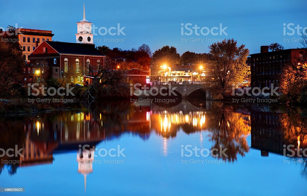 Nashua New Hampshire stock photo