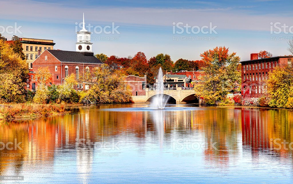 Nashua, New Hampshire stock photo