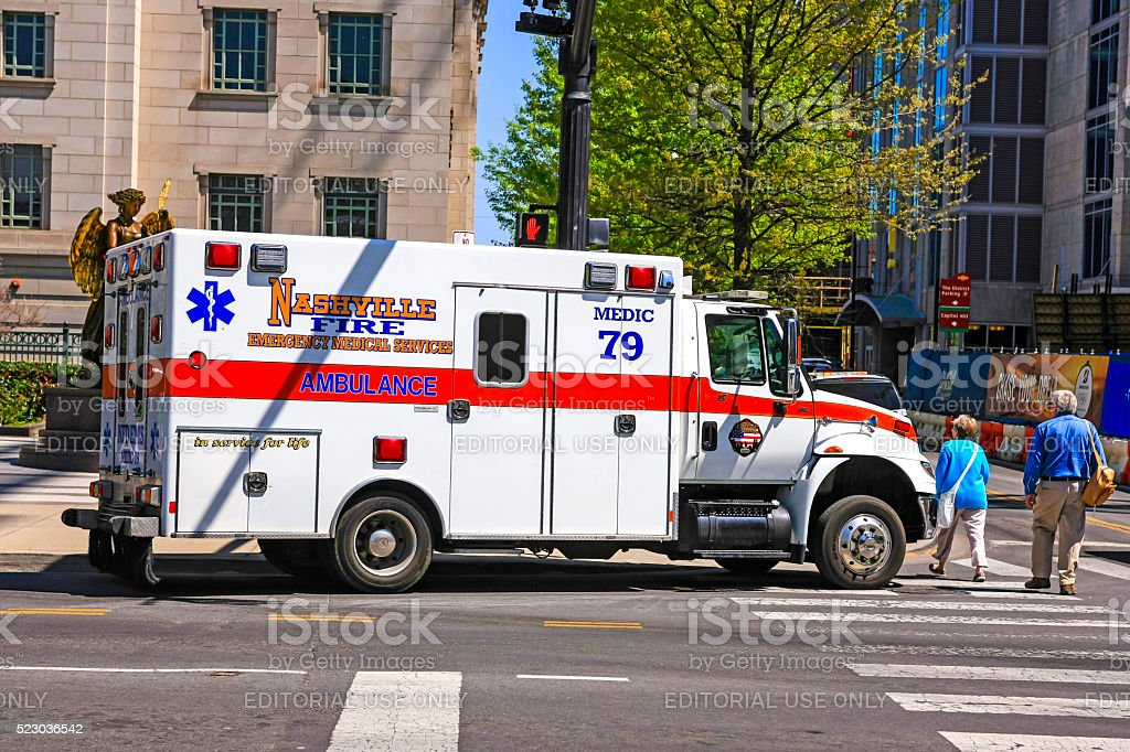 Nashville Fire Dept EMT ambulance stock photo