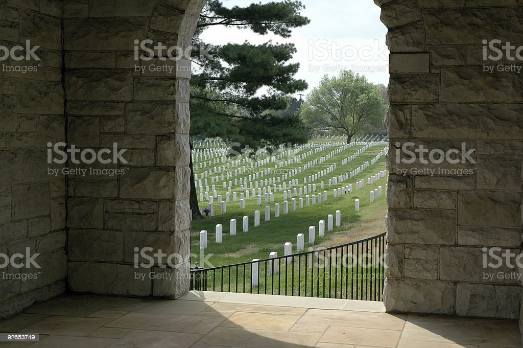 Nashville National Cemetery royalty-free stock photo