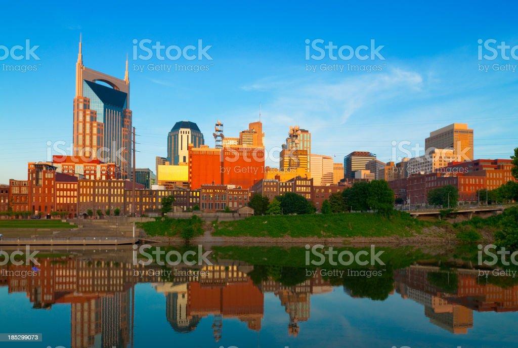 Nashville skyline at dawn royalty-free stock photo