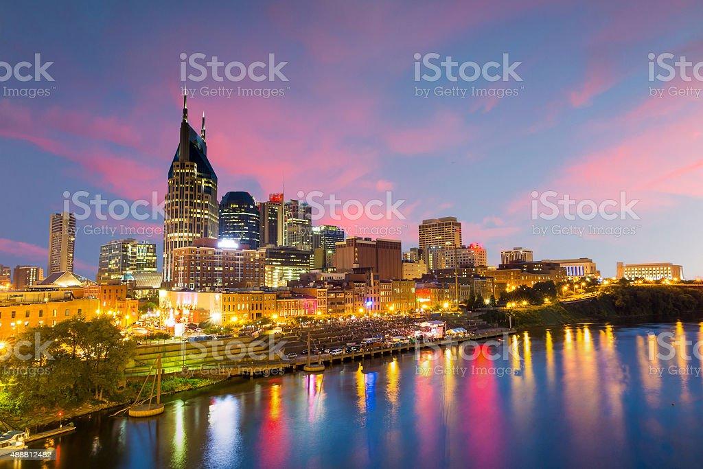 Nashville, Tennessee downtown skyline stock photo