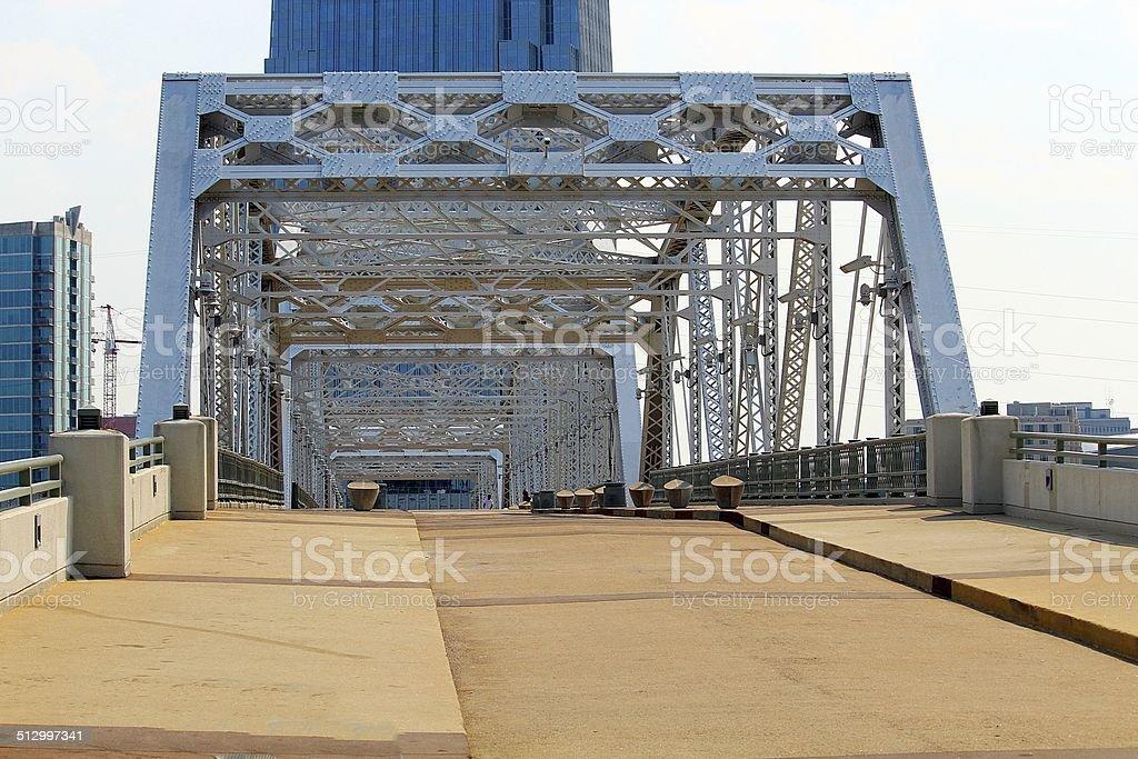 Nashville Tennessee Shelby Ave. Bridge stock photo