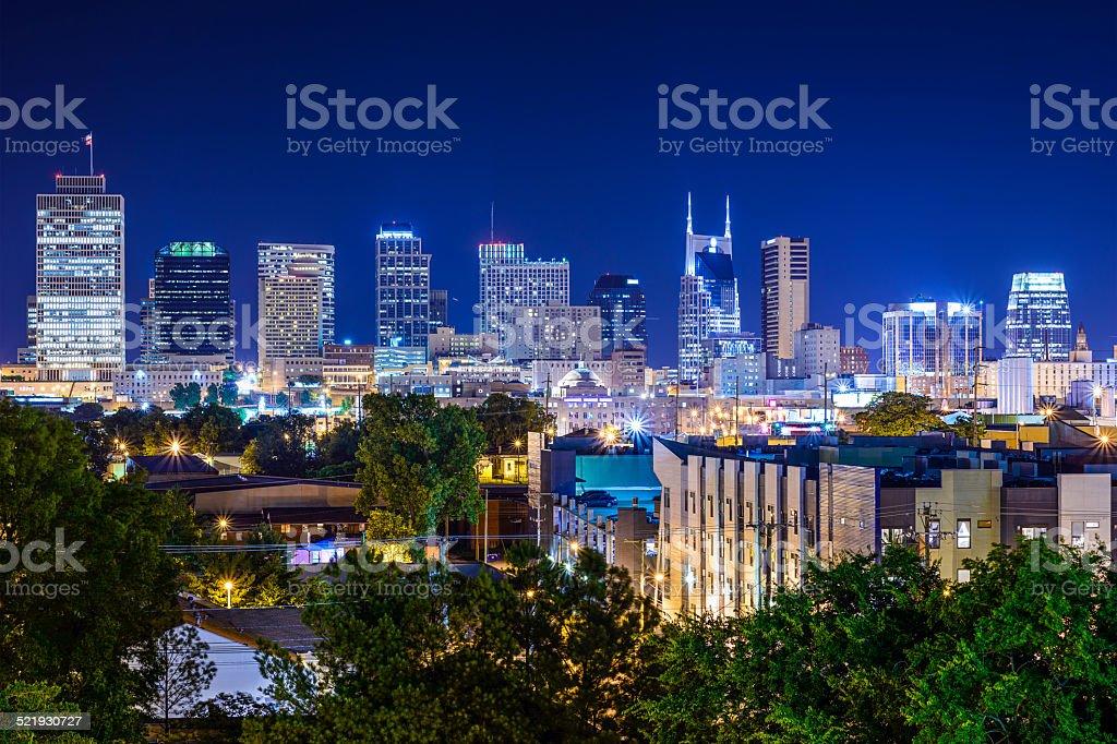 Nashville, Tennessee Skyline stock photo
