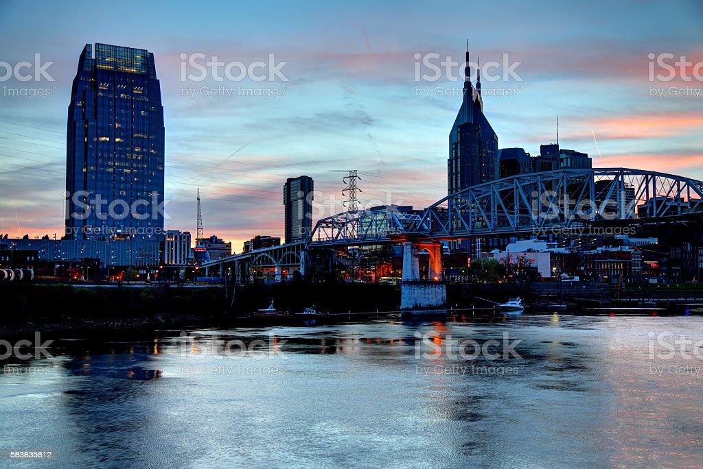 Nashville Tennessee Skyline stock photo