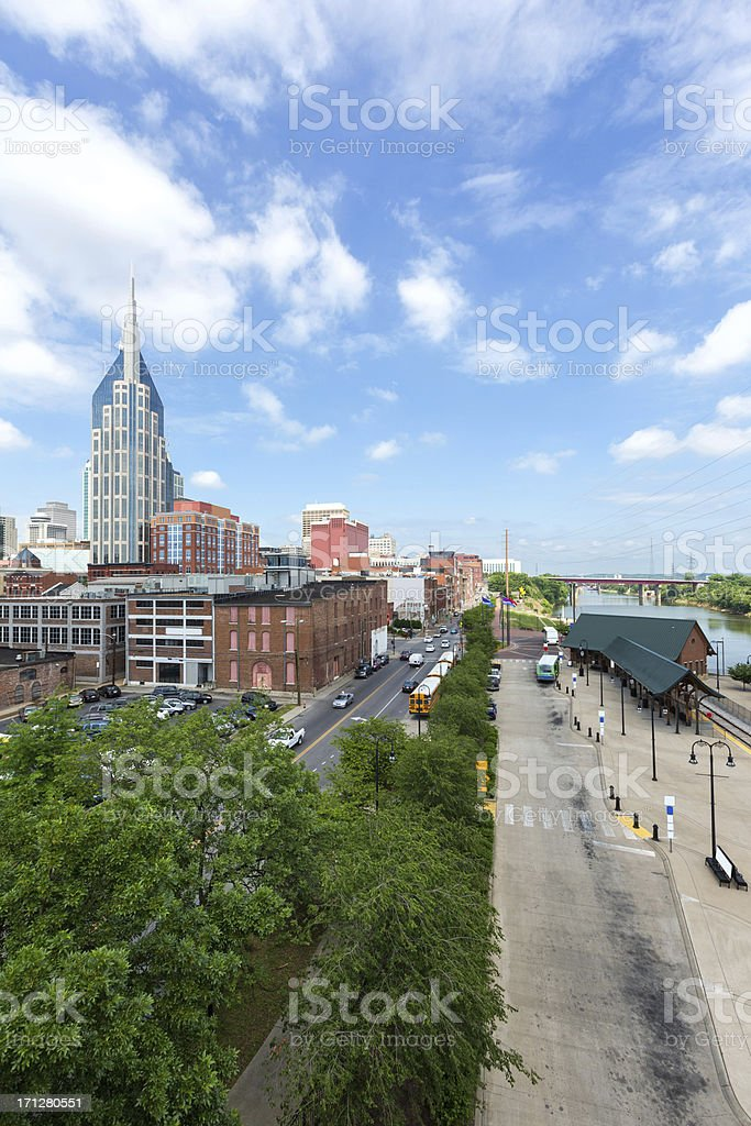 Nashville Tennessee Train station on Broad Street stock photo