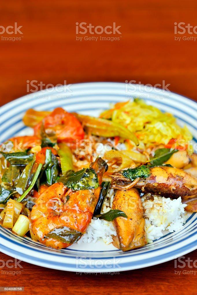 Nasi Kandar Malaysian Cuisine stock photo