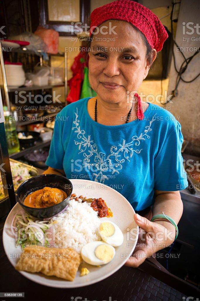 Nasi Lemak Malaysian Cuisine stock photo