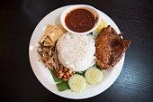 'nasi lemak' national food of Malaysia