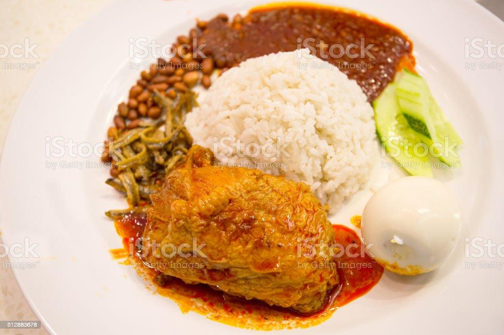 Nasi lemak stock photo
