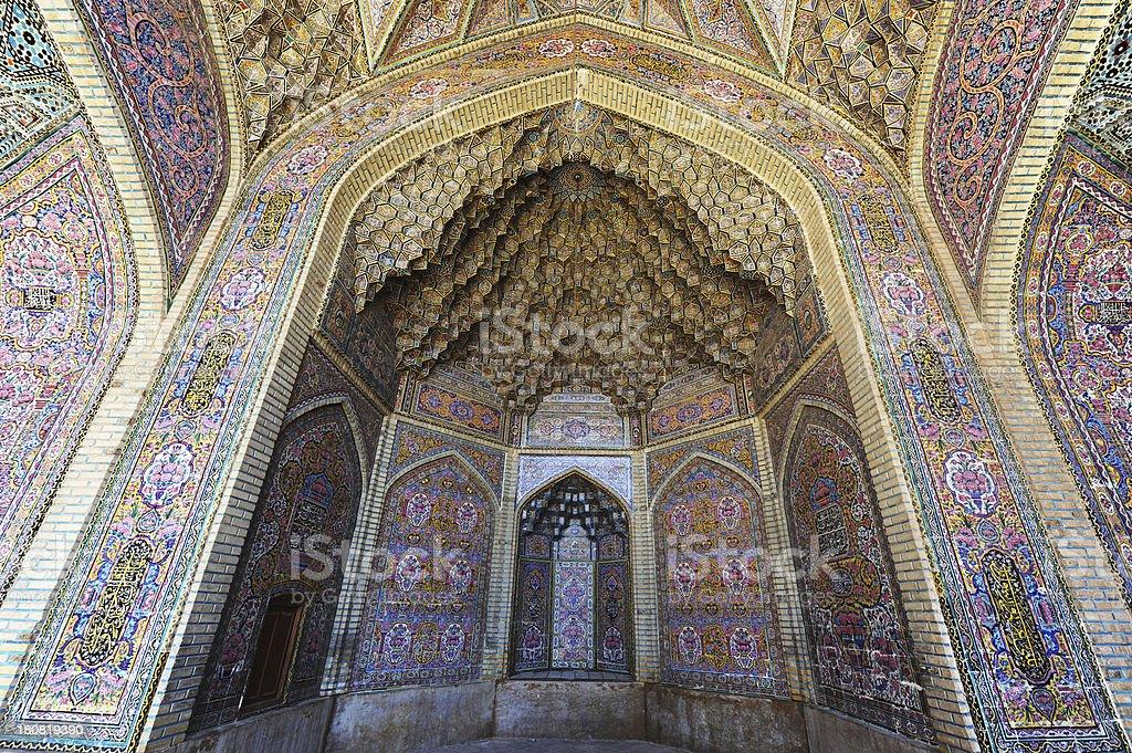 Nasir al-Mulk Mosque stock photo