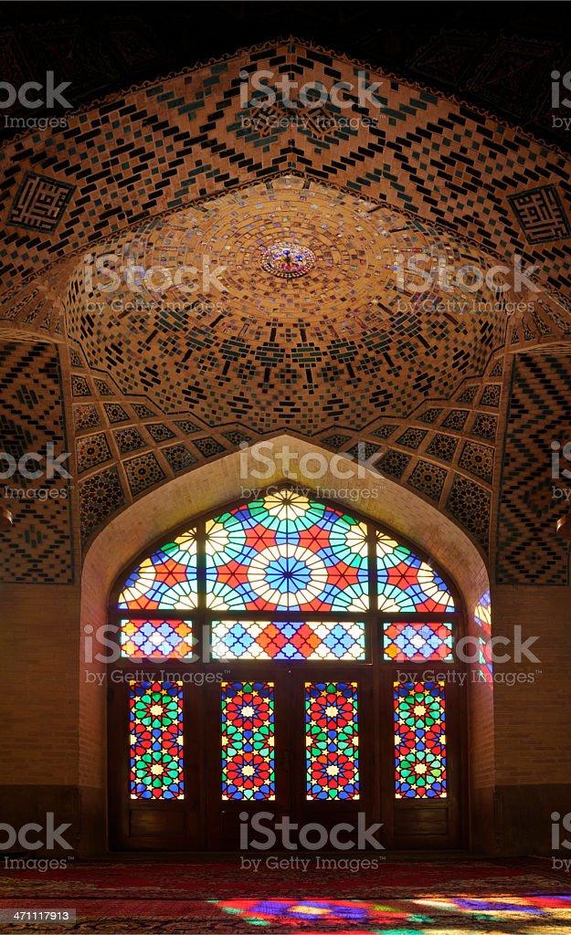 Nasir al-Mulk Mosque, Shiraz, Iran stock photo