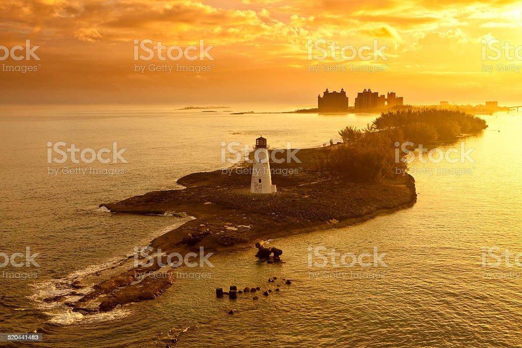 nassau, bahamas, at dawn stock photo